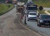 Troca de asfalto deixa o Trânsito lento na BR 277; Desvio é feito por Araucária
