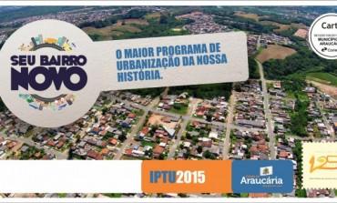 Carnês de IPTU 2015 começam a ser entregues em Araucária