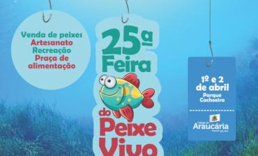 Dias 01º e 02 de abril tem feira do peixe vivo em Araucária