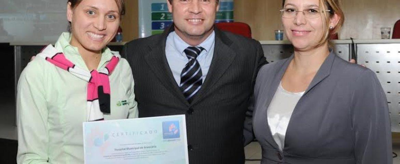 Hospital de Araucária recebe certificado por êxito em ações de higienização das mãos