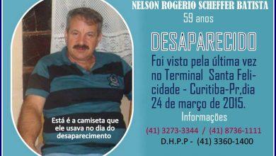 Foto de Senhor desaparecido pode está vagando pelas ruas de Araucária