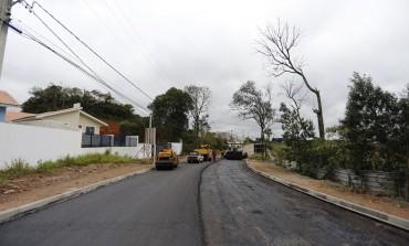 2º trecho da Costa e Silva começa a receber asfalto em Araucária