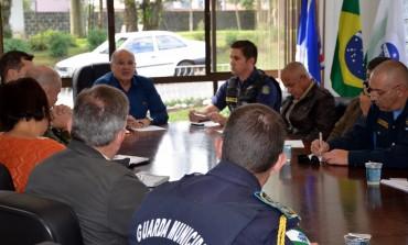 Araucária participa de reunião sobre consórcio entre Guardas Municipais