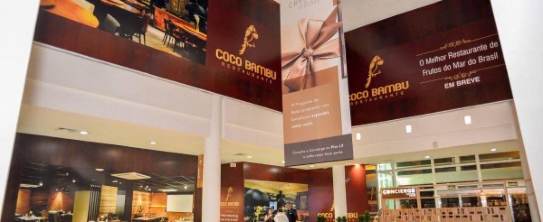 Mega restaurante de frutos do mar vai ocupar três andares do Shopping Crystal