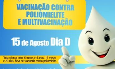 Dia 15: vacine seu filho contra poliomielite e coloque em dia outras vacinas