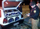 Patrulha do Sossego apreende dezenas de carros e aparelhos de som no Litoral do Paraná
