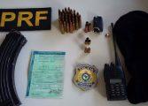 PRF apreende carro após troca de tiros com suspeitos em Araucária