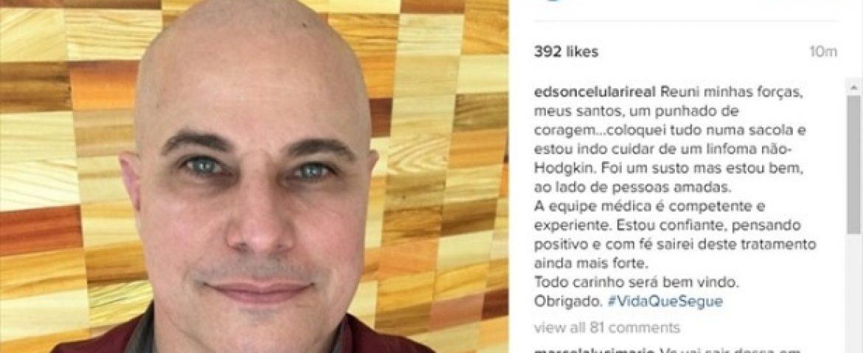 Edson Celulari é diagnosticado com câncer e inicia tratamento