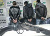 Trio suspeito de atirar contra vítima durante assalto é preso