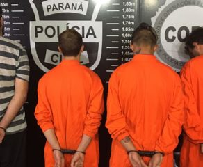 Quadrilha suspeita de invadir hipermercado e assaltar carro-forte em Araucária é presa