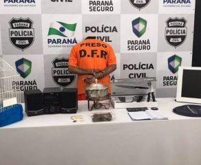 Suspeito de integrar quadrilha que rouba residências é preso em Araucária