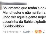 Curitibana lamenta que bomba de Manchester não explodiu na Bahia e revolta internautas