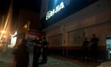Homem invade Casas Bahia de madrugada e na fuga é preso pela Guarda Municipal de Araucária