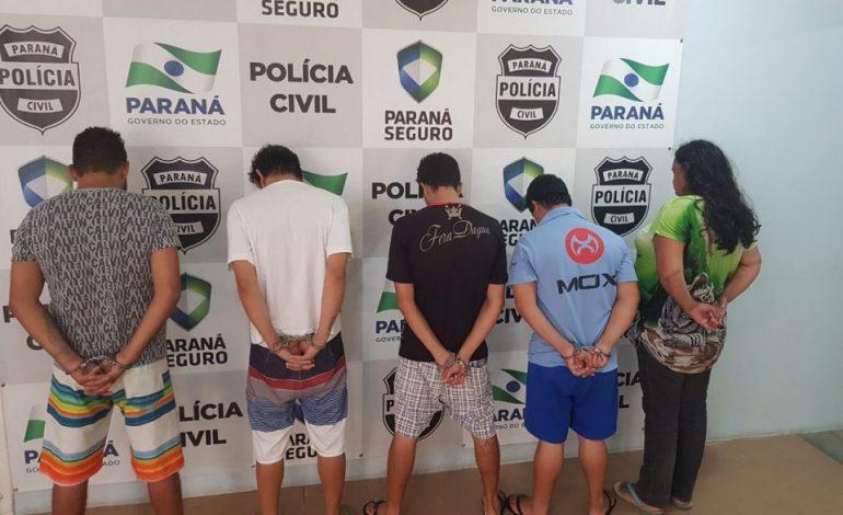 Quadrilha é presa suspeita de matar rapaz por vingança em Araucária