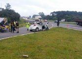Homem com tornozeleira eletrônica capota carro e morre na BR-116