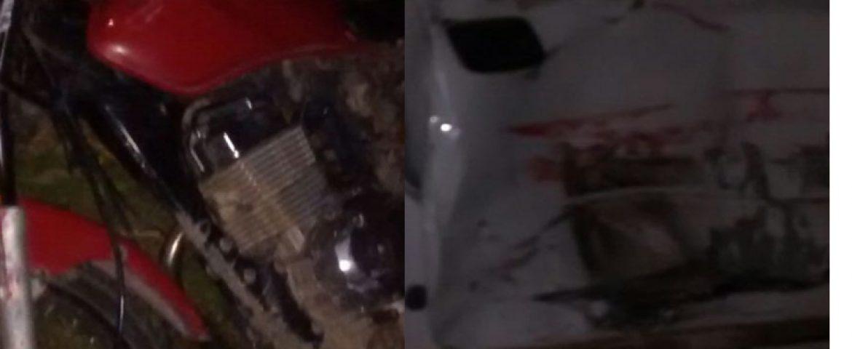 Casal morre após acidente entre motocicleta e carro na Rodovia do Xisto