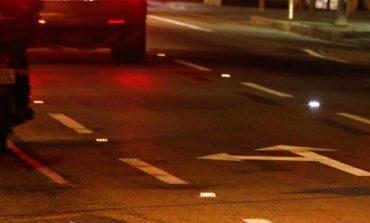 Sinalização com LED promete aumentar a segurança no trânsito em Araucária