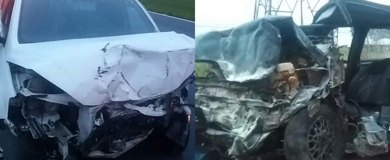 Carros batem de frente e acidente deixa um morto e seis feridos