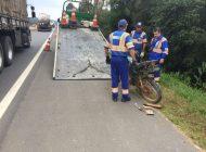 Motociclista morre em grave acidente em Araucária; motorista fugiu