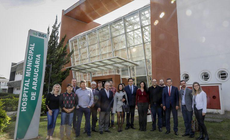 Araucária recebe representantes do Ministério da Saúde e da Secretaria de Estado da Saúde