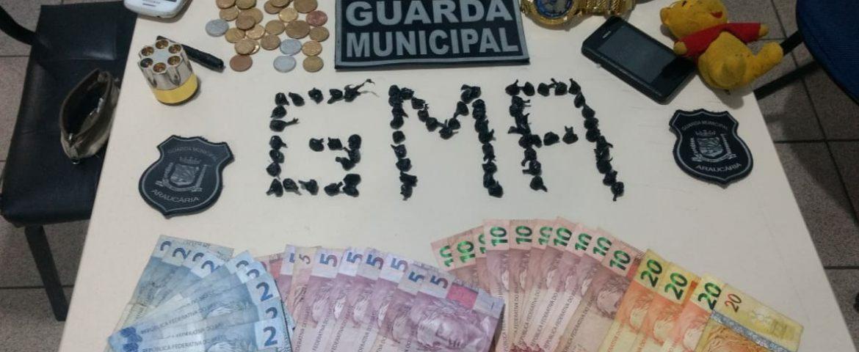 Guarda Municipal de Araucária prende homem com grande quantidade de drogas