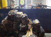 PRF apreende fuzis e quase 2 mil capsulas de munição escondidas em contêiner de farinha