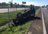 Capotamento na BR-277 deixa três mulheres feridas em São José dos Pinhais