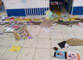 Vândalos invadem creche da Grande Curitiba e deixam rastro de destruição