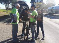 """Campanha """"Rabeira Zero"""" alerta ciclistas sobre perigos de andar na canaleta"""