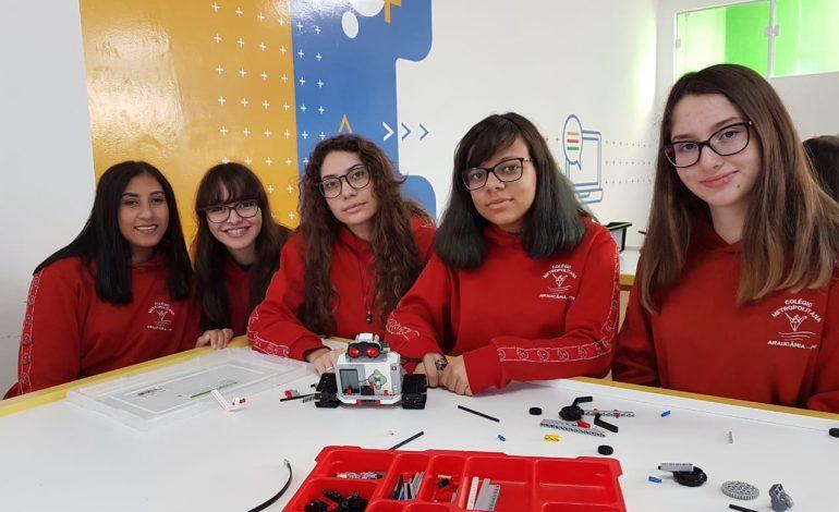 Feira de Ciências da PUC-PR contará com projeto de robótica de meninas do Colégio Metropolitana de Araucária