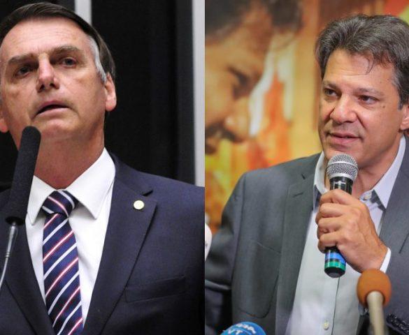 Bolsonaro tem 59% dos votos válidos e Haddad, 41%, aponta Ibope