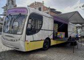 Ônibus da Cultura realiza três paradas neste final de semana