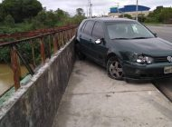 Idosa pula de ponte para evitar atropelamento