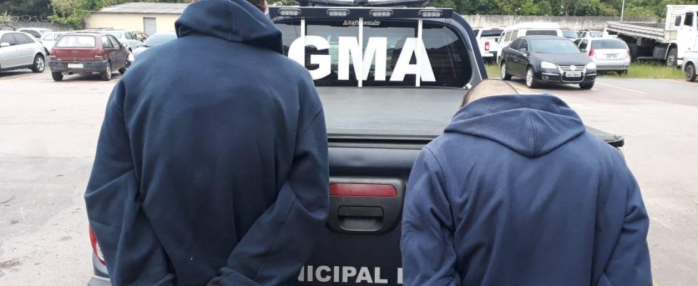 Guarda Municipal de Araucária prendem suspeitos de furto de botijões de gás