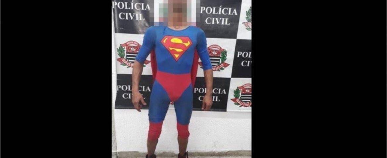 Foragido do Paraná é preso vestido de superman em São Paulo