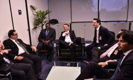 Ratinho Junior se encontra com Bolsonaro para discutir projetos de infraestrutura