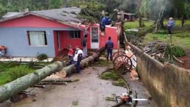 Foto de 54 municípios são atingidos pelo temporal; confira alguns vídeos de Araucária e região
