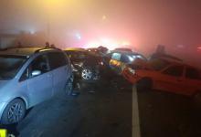 Foto de Queimada às margens da BR-277 que ocasionou acidente com oito mortes começou à tarde, dizem moradores